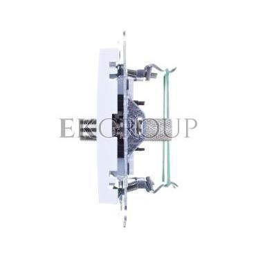 AS Gniazdo antenowe pojedyncze typu F białe GPA-1GF/m/00-121000