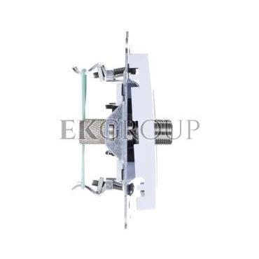 AS Gniazdo antenowe podwójne typu F białe GPA-2GF/m/00-120767
