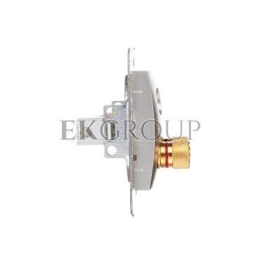 CARLA Gniazdo głośnikowe pojedyncze srebrne 1757-16-129614