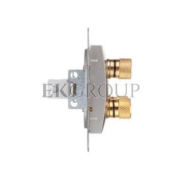 CARLA Gniazdo głośnikowe podwójne srebrne 1758-16-129747