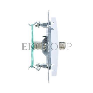 IMPRESJA Gniazdo antenowe pojedyncze typu F białe GPA-1YF/m/00-121152
