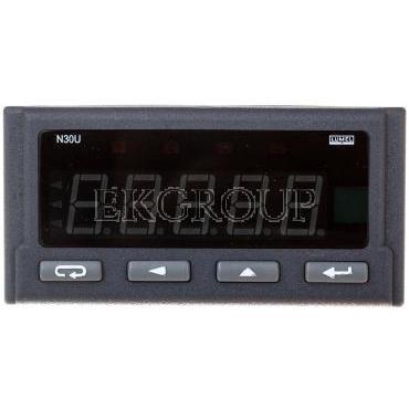 Programowalny miernik cyfrowy wejście temperaturowe i DC zasilanie 85-253V AC/DC wyjście impulsowe RS-485 analog. przek bez jedn