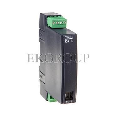 Programowalny przetwornik wejście temperaturowe i DC wyjście I 4-20mA zasilanie 85-253V AC/DC wejście Pt100 0-400st.C bez atestu