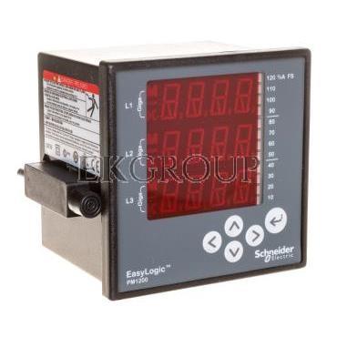 Miernik cyfrowy wielofunkcyjny (U, I, P, Q, f, PF) 5/1A przekładnik 80-480V AC PM1200 RS485 COM METSEPM1200-119339