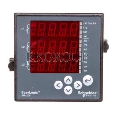 Miernik cyfrowy wielofunkcyjny (U, I, P, Q, f, PF) 5/1A przekładnik 80-480V AC PM1200 RS485 COM METSEPM1200-119340