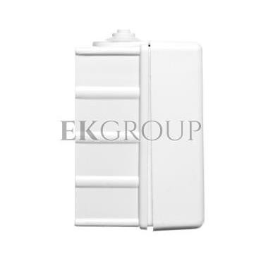 TROL Gniazdo hermetyczne pojedyncze z/u IP44 klapka transparentna białe 100132-123949