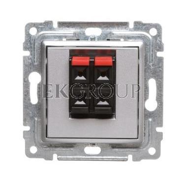 VENA Gniazdo głośnikowe podwójne aluminium 514071-123449