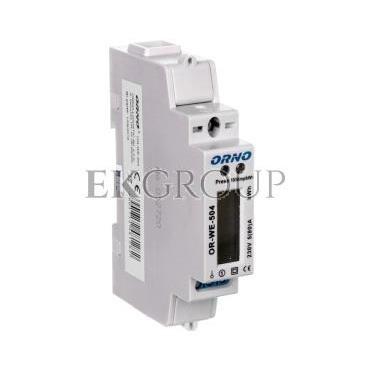 Wskaźnik zużycia energii elektrycznej 1-fazowy 80A 230V port RS-485 z wyświetlaczem LCD OR-WE-504-119304