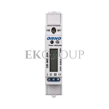 Wskaźnik zużycia energii elektrycznej 1-fazowy 80A 230V port RS-485 z wyświetlaczem LCD OR-WE-504-119305