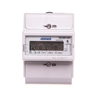 Wskaźnik zużycia energii elektrycznej 1-fazowy 80A 230V z wyświetlaczem LCD OR-WE-502-119307