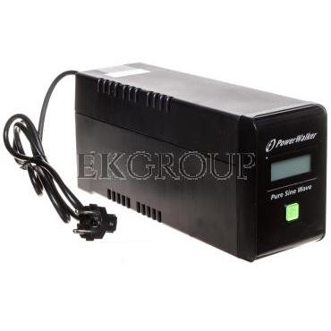 UPS POWER WALKER LINE-INTERACTIVE 800VA 2xPL 230V, czysta sinusoida, RJ11/45 IN/OUT, USB, LCD VI 800 SW/FR-119897