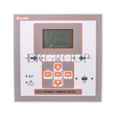 Automatyczny przełącznik sieci 12-24V DC/ 100-240V AC obudowa 144x144mm do rozbudowy modułami EXP ATL610-119002