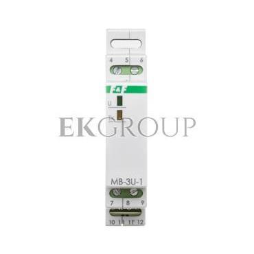 Przetwornik pomiaru napięcia trójfazowy z wyjściem MODBUS RTU MB-3U-1-119731