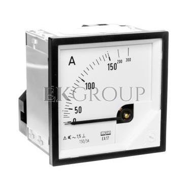 Amperomierz analogowy tablicowy 150/300A do przekładnika 150/5A 72x72mm IP50 C3 K=90 st. EA17N F41700000000-119243