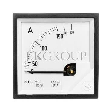 Amperomierz analogowy tablicowy 150/300A do przekładnika 150/5A 72x72mm IP50 C3 K=90 st. EA17N F41700000000-119244