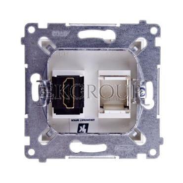 Simon 54 Gniazdo HDMI metalizowane złoty mat DGHDMI.01/44-129671