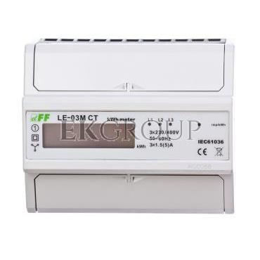Licznik energii elektrycznwj 3-fazowy z programowalną przekładnią 5-6000/5A RS-485 MODBUS cyfrowy LE-03M CT-119067