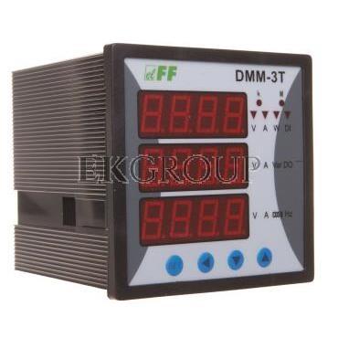 Miernik parametrów sieci 3-fazowy 85-264V AC/DC MODBUS cyfrowy tablicowy 96x96mm DMM-3T-119280