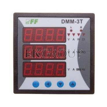 Miernik parametrów sieci 3-fazowy 85-264V AC/DC MODBUS cyfrowy tablicowy 96x96mm DMM-3T-119281