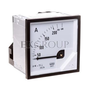 Amperomierz analogowy tablicowy 200/400A do przekładnika 200/5A 72x72mm IP50 C3 K=90 st. EA17N F41800000000-119239