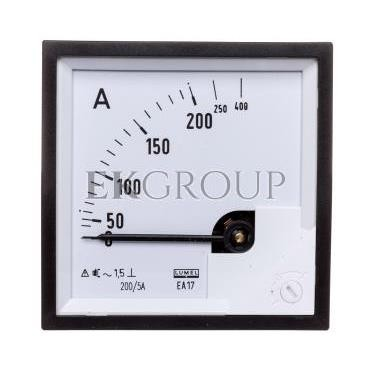 Amperomierz analogowy tablicowy 200/400A do przekładnika 200/5A 72x72mm IP50 C3 K=90 st. EA17N F41800000000-119240