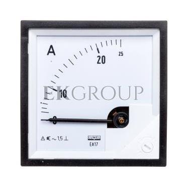 Amperomierz analogowy tablicowy 0-25A 72x72mm IP50 C3 K=90 st. EA17N E21000000000-118831