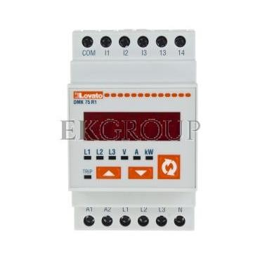 Miernik cyfrowy (woltomierz/amperomierz/watomierz) modułowy DMK75R1-119274