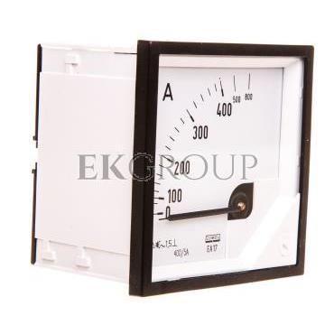 Amperomierz analogowy tablicowy 800/400A do przekładnika 400/5A 72x72mm IP50 C3 K=90 st. EA17N F42100000000-119241