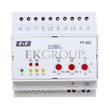 Automatyczny przełącznik faz z wyjściem napięcia fazowego 400V/2x230V N PF-452-118973