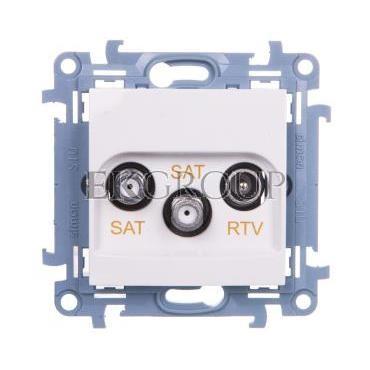 Simon 10 Gniazdo antenowe podwójne SAT-SAT-RTV biały CASK2.01/11-122242