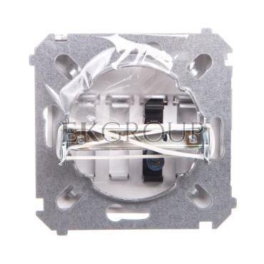 Simon Basic Gniazdo głośnikowe 1-krotne z polem opisowym srebrny mat BMGL31.01/43-129723