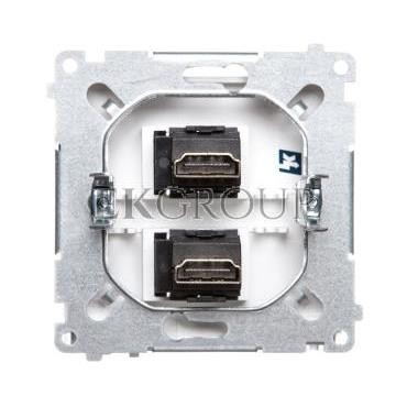 Simon Basic Gniazdo HDMI podwójne srebrny mat BMGHDMI2.01/43-129729