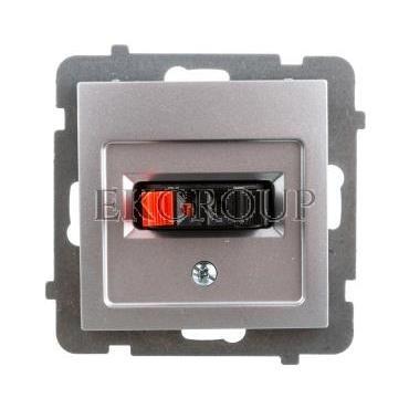 AS Gniazdo głośnikowe pojedyncze srebro GG-1G/m/18-129774