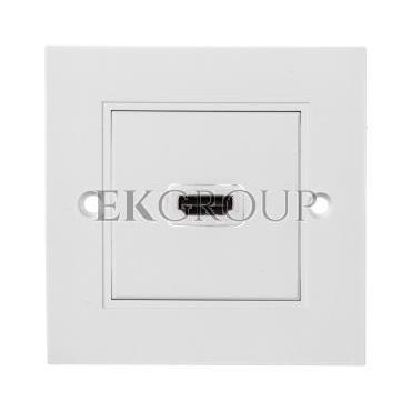 Gniazdo podtynkowe HDMI białe z gniazdem HDMI 51722-129768