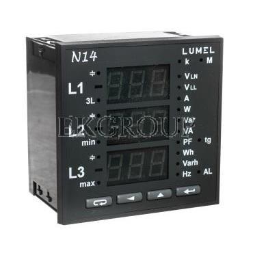 Miernik sieci 3-fazowej wej. I 5A wej. U 3x230/400V bez atestu KJ N14 22000-118911