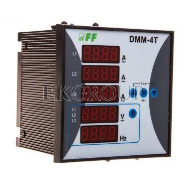 Miernik parametrów sieci 3-fazowy 12-400V AC 1-9000/5A 10-100Hz cyfrowy tablicowy 96x96mm DMM-4T-119282