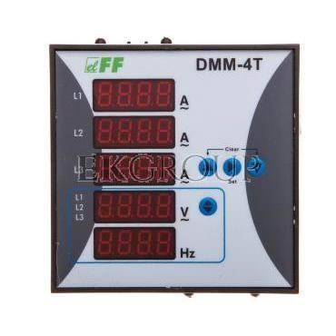 Miernik parametrów sieci 3-fazowy 12-400V AC 1-9000/5A 10-100Hz cyfrowy tablicowy 96x96mm DMM-4T-119283