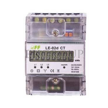 Licznik energii elektrycznej 3-fazowy 5A 230/400V do współpracy z przekładnikiem (programowalny) 20-6000/5A LCD LE-02d CT-119069