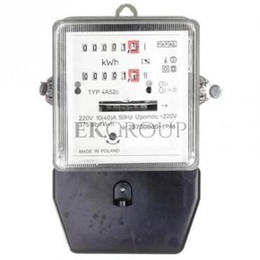Licznik energii elektrycznej 1-fazowy II taryfowy A52c 10/40A 220V REG./LEG.-119178