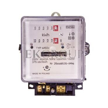 Licznik energii elektrycznej 1-fazowy II taryfowy A52c 10/40A 220V REG./WZOR.-119181