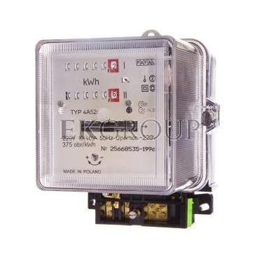 Licznik energii elektrycznej 1-fazowy II taryfowy A52c 10/40A 220V REG./WZOR.-119182