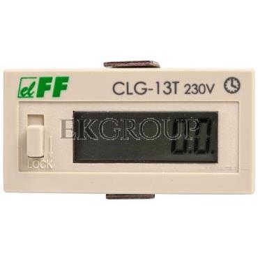Licznik czasu pracy 110-240V AC/DC 6 znaków cyfrowy tablicowy 48x24mm CLG-13T 230V-119217