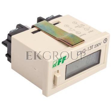 Licznik czasu pracy 110-240V AC/DC 6 znaków cyfrowy tablicowy 48x24mm CLG-13T 230V-119218