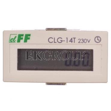 Licznik czasu pracy 110-230V AC/DC 8 znaków cyfrowy tablicowy 48x24mm CLG-14T-119231
