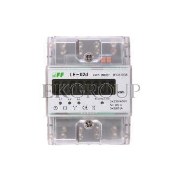 Licznik energii elektrycznej 3-fazowy zgodność z MID 63A 230/400V z wyświetlaczem LCD LE-02D-119053