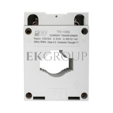Przekładnik prądowy TI-100/5 2,5VA kl.0,5 na kabel i szynę fi22 30/25/20x10mm-119456