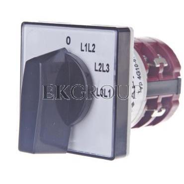Przełącznik woltomierza 3P 10A do wbudowania 4G10-67-U S1-119787