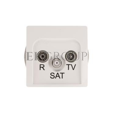 Simon Basic Gniazdo antenowe RD/TV/SAT końcowe białe BMZAR-SAT1.3/1.01/11-120189