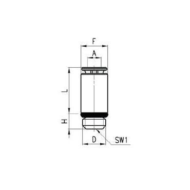 Szybkozłącze wtykowe proste Micro 6512 Camozzi