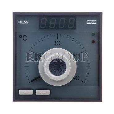 Regulator analogowy nastawa Pt100 0-400st.C regulator PID konfigurowane wyjście przekaźnikowe bez atestu KJ RE55 0531000-134560